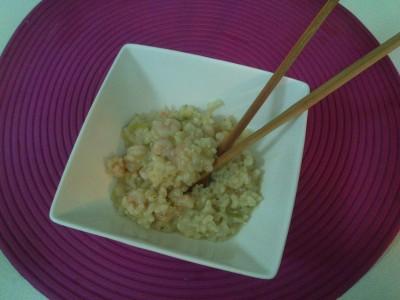 Arroz basmati con setas y salsa de soja