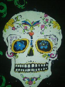 Calavera mexicana halloween