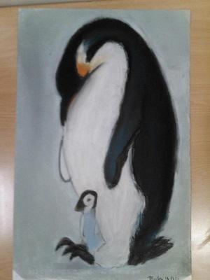 Pinguino a pastel