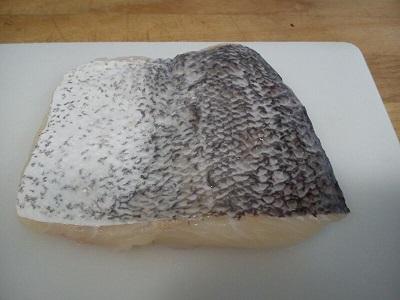 Merluza con almeldras