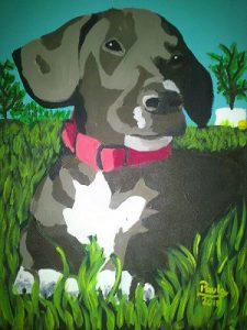 Pintura Teckel