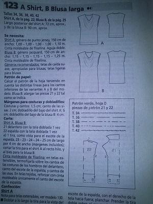 Instrucciones Burda