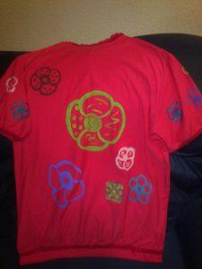 Camiseta modificada espalda