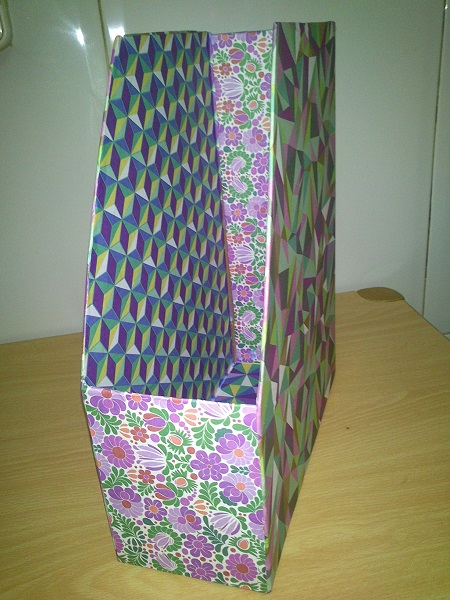 Revistero Con Caja De Carton Tecnica Decoupage Las Recetas