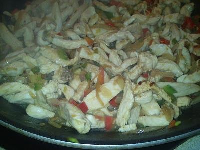 Fajita de pollo y pimientos (3)