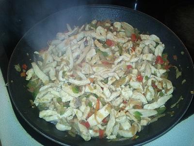 Fajita de pollo y pimientos (4)