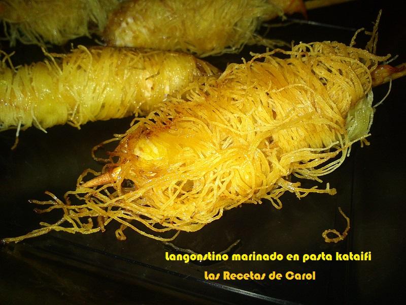 Langostinos marinados en crujiente de Pasta Kataifi