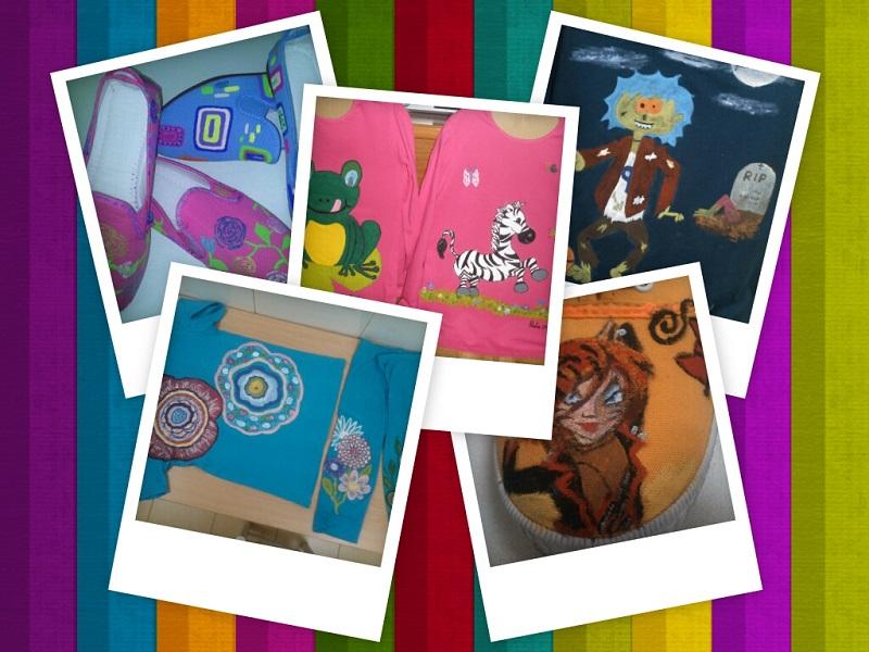 Camisetas y zapataillas pintadas por nosotras