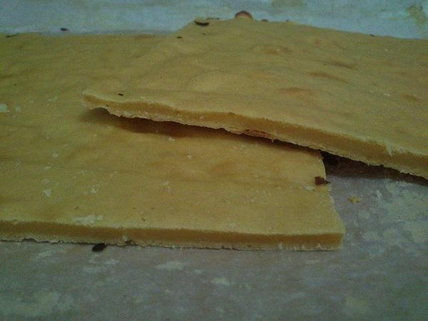 Plancha de bizcocho de piña