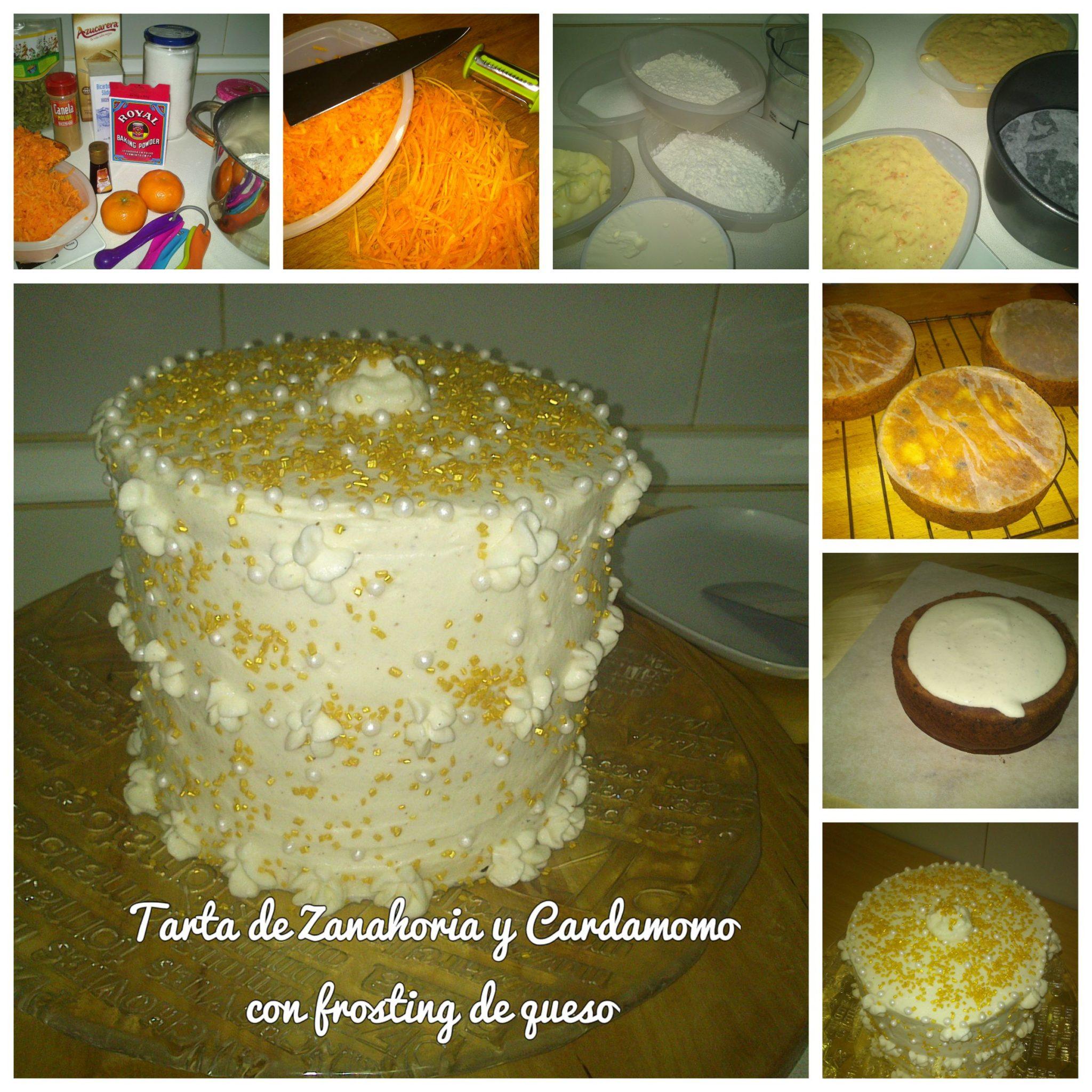 Tarta de Zanahoria y Cardamomo con frosting de queso
