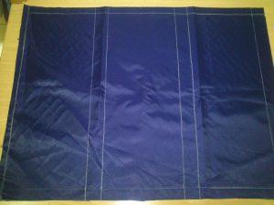 Marcamos la tela plastica base