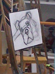 Bulldog a pastel 1
