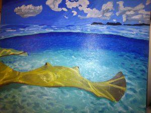 Pintura Paisaje Marino
