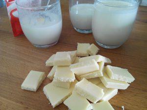 Ingredientes 3 capa de chocolate blanco