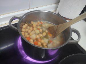 Garbanzos con verdura Bote mercadona (6)