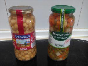 Garbanzos con verduras, Tarro Mercadona