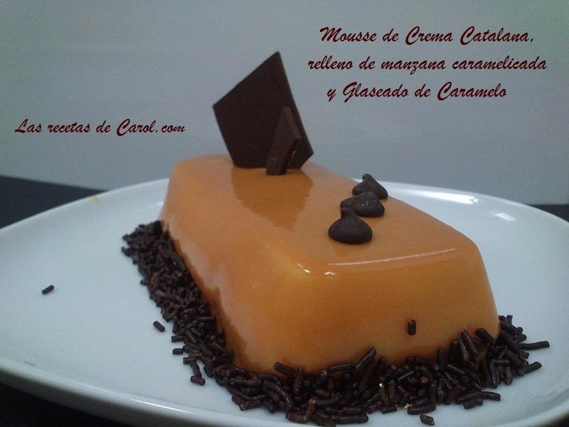 Mousse de crema catalana con glaseado de caramelo (2)