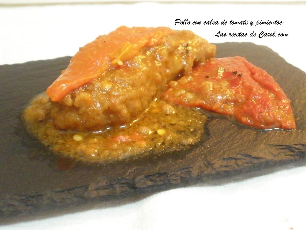 Pollo con salsa de  tomate y pimientos (6)