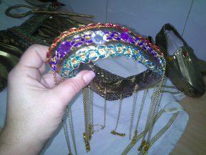 Tocado pelo disfraz egipcia