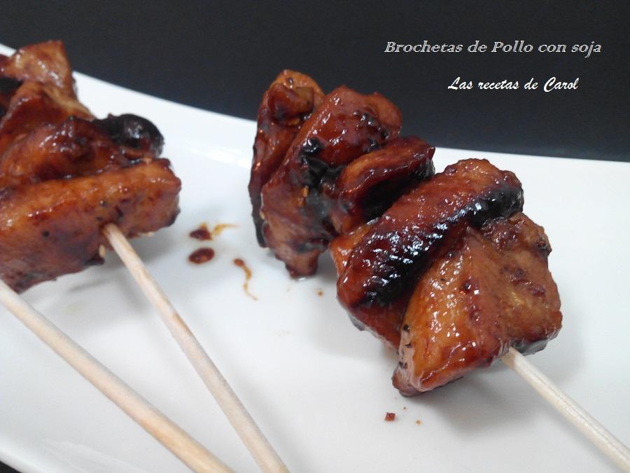 Brochetas de pollo  con soja (3)