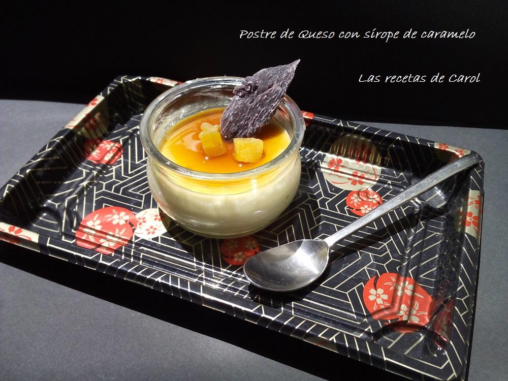 Postre de queso, leche y nata