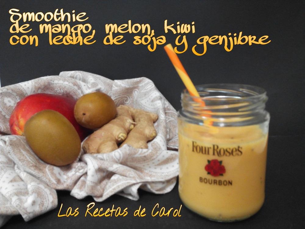 smoothie de mango y leche de soja