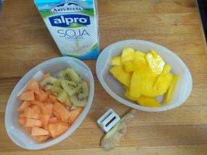 Smoothie de Mango y leche de soja con jengibre (9)