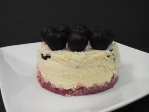 Pastel de Mousse de chocolate blanco