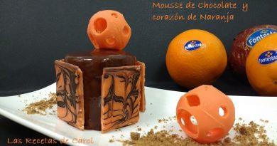 Mousse de chocolate, crema de naranja y glaseado (3)