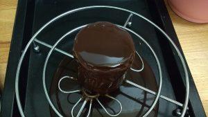 Mousse de chocolate, crema de naranja y glaseado (5)