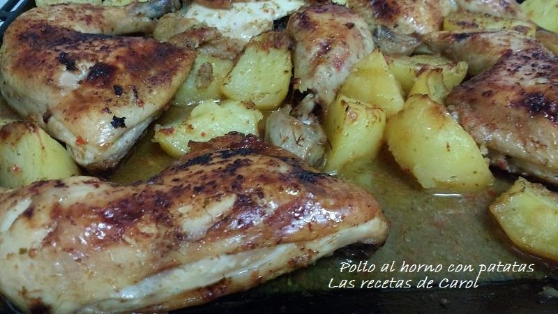 Pollo al horno con patatas (2)