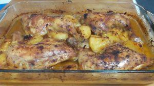 Pollo al horno con patatas (3)