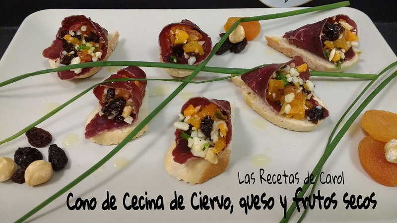 Cono de Cecina, queso y frutos secos (3)