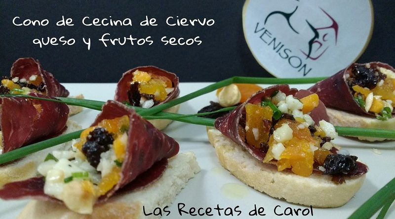 Cono de Cecina, queso y frutos secos (9)