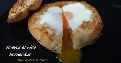 Huevos al nido horneados