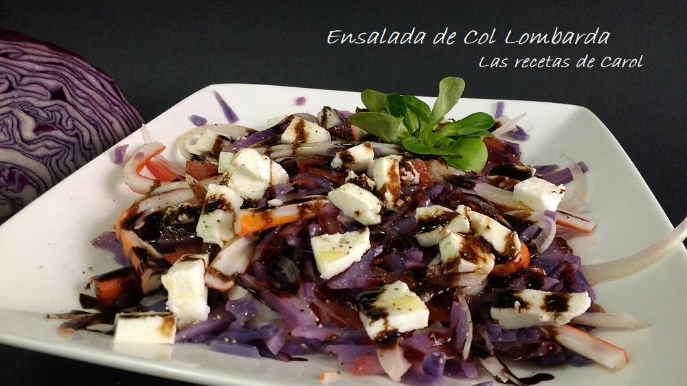 Ensalada de lombarda las recetas de carol for Como cocinar col lombarda