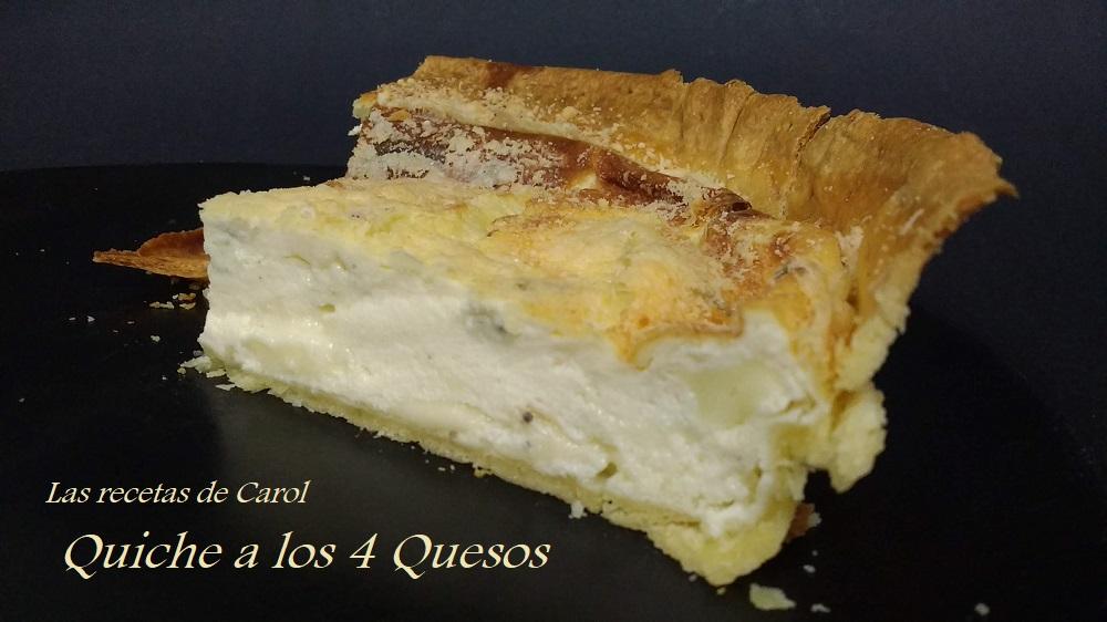 Quiche a los cuatro quesos