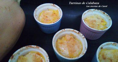 Tarrinas de Calabaza