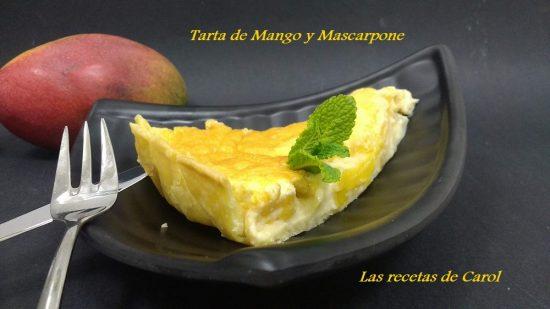 Tarta de mango y mascarpone